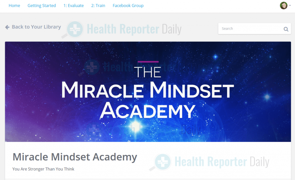 The Miracle Mindset Members Area