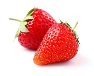 Ripe strawberry in closeup
